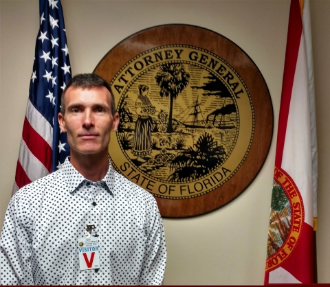 David Howe at the Office of the Attorney General in Tampa, Florida (Photo: Business Wire)