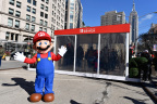 In this photo provided by Nintendo of America, Mario makes a guest appearance at the Nintendo Switch in Unexpected Places activation at Madison Square Park in New York. The new Nintendo Switch home gaming system is available worldwide now. (Photo: Nintendo of America)