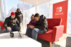 In this photo provided by Nintendo of America, local fans in Madison Square Park in New York play The Legend of Zelda: Breath of the Wild game on the Nintendo Switch system while it is in tabletop mode. Nintendo Switch is available worldwide now. (Photo: Nintendo of America)