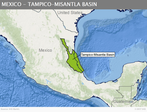 New research finds that the Tampico-Misantla Basin in Mexico could be one of 24 global onshore 'Super Basins' that IHS Markit has identified. (Graphic: Business Wire)