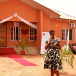 AHF Africa Bureau Chief (Dr. Penninah Iutung Amor) addresses community heads at the unveiling of the 2nd clinic constructed by AHF in Daudu-Benue State, Nigeria (Photo: Business Wire)