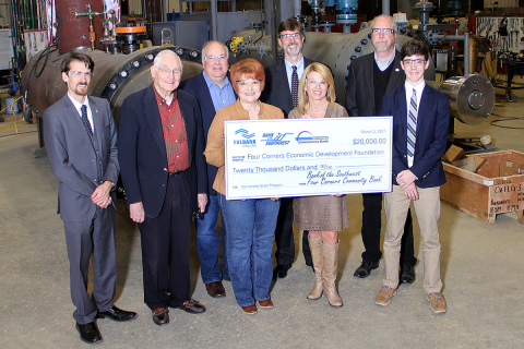 Four Corners Economic Development Foundation received $20,000 in Partnership Grant Program funds through Bank of the Southwest, Four Corners Community Bank and the Federal Home Loan Bank of Dallas on Friday. (Photo: Business Wire)