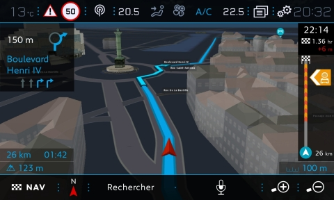 TomTom today announced that its trusted navigation components will be rolled-out into PEUGEOT's latest car lines. TomTom Maps, Navigation, 3D Buildings, Traffic, Speed Cameras, Weather, Fuel, Parking and Local Search will be included in the PEUGEOT 208 and 2008, running on the car maker's i-Cockpit® infotainment system. (Photo: Business Wire)