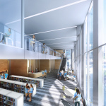 Rendering of the library at the new GEMS World Academy Chicago high school, which is scheduled to open in fall 2017. (Photo: Business Wire)