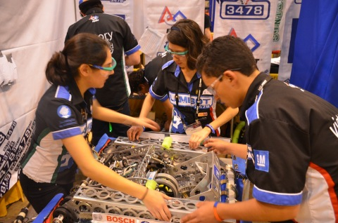 Mouser Electronics will be a major sponsor of this week's FIRST Robotics Competition Dallas Regional event, March 8-11 at the Irving (Tex.) Convention Center. The annual robotics event, which fosters STEM education, attracts over 50 high school teams from across the area. Photo from 2016 FIRST Championships. (Photo: Business Wire)