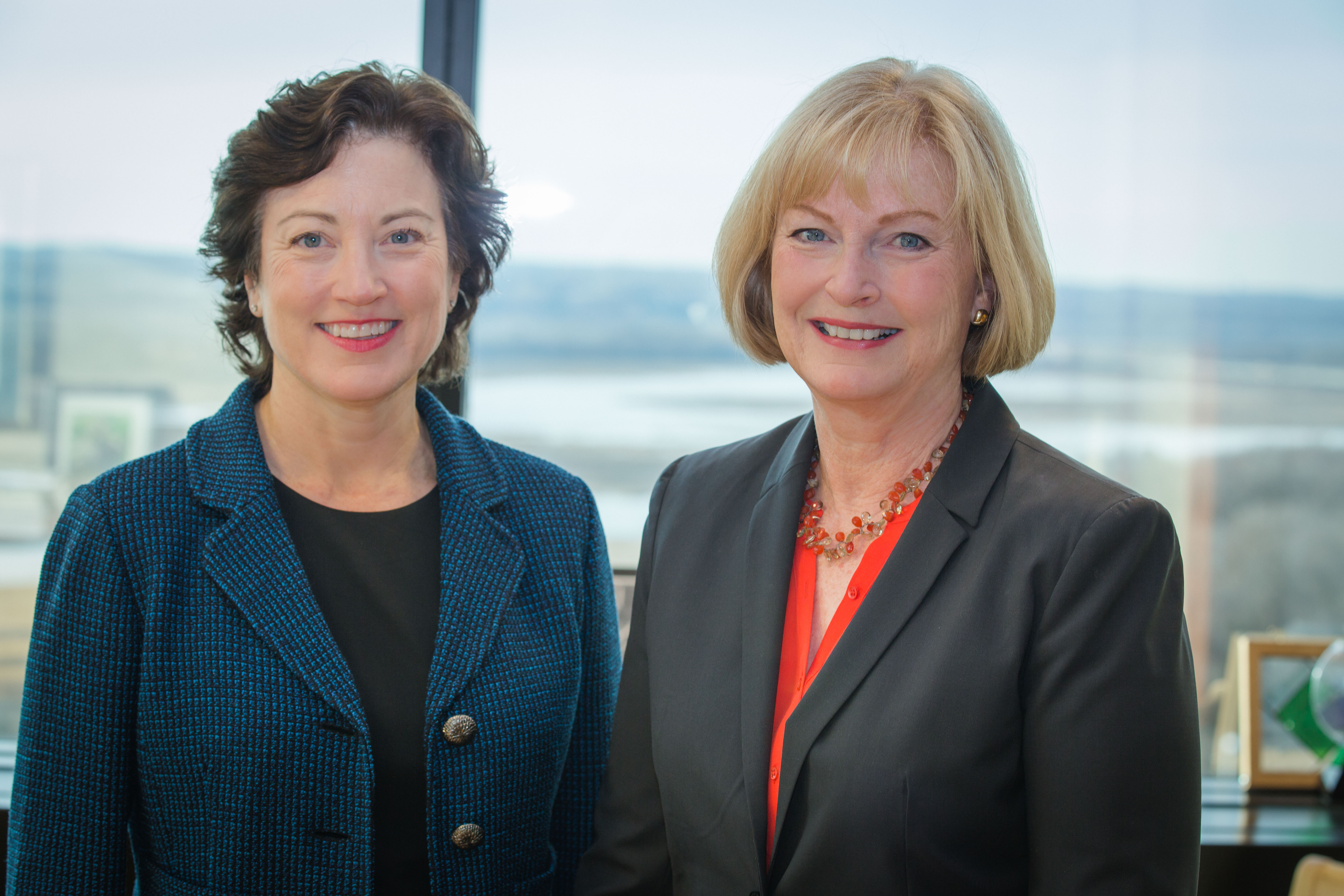 Left to right: HealthPartners Executive Vice President Andrea Walsh, and HealthPartners President and CEO Mary Brainerd. HealthPartners announced today that Mary Brainerd will retire after 15 years as President and CEO, effective June 1, 2017. Andrea Walsh, who has held a number of leadership positions at HealthPartners since 1994, has been named Brainerd's successor (Photo: HealthPartners).
