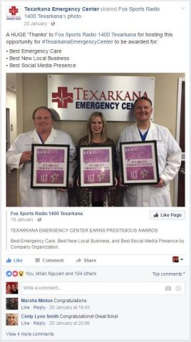 Texarkana Emergency Center would like to thank ALT Magazine for their recognition in the 2016 Best of Business Awards. (Photo: Business Wire)