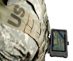Getac MX50 Tactical Tablet -- shown on chest mount with a standard issue MOLLE vest, providing hands-free carrying and ease of access.(Photo: Business Wire)