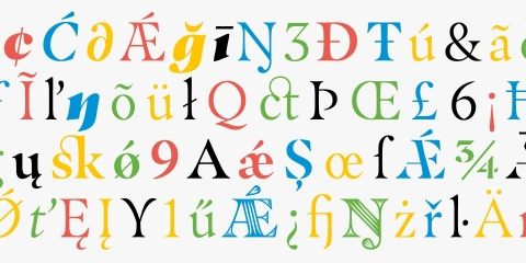 With six different weights and italics, as well as Stencil and Groove display weights, the Masqualero typeface is a versatile solution for a wide range of uses. (Photo: Business Wire).