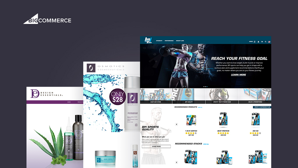 Health and beauty retailers BPI Sports, Design Essentials and Osmotics Cosmeceuticals recently migrated ecommerce stores to BigCommerce. (Photo: Business Wire)