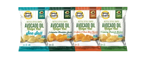 Good Health®, creator of crunchy, crave-worthy snacks that make it easy to make better choices, is adding to its robust portfolio of better-for-you snacks with an exciting new line of Avocado Oil Ridge Cut™ Potato Chips. (Photo: Business Wire)