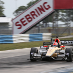 Schmidt Peterson Motorsports' (SPM) James Hinchcliffe in the Arrow No. 5 Honda during a test lap last week. Arrow and Lenovo are using Big Data to help SPM speed up its cars and pit crew stops. (Photo: Business Wire)