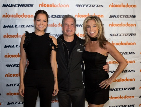 Brooke Burke-Charvet, Skechers President Michael Greenberg and Denise Austin at the 2017 SKECHERS Friendship Walk Check Presentation (Photo: Business Wire)