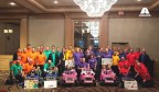 Axalta and GoBabyGo! retrofitted and presented six families with toy cars that address each toddler's specific mobility needs. (Photo: Axalta)