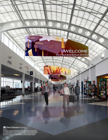 Advertisers will be able to leverage Clear Channel Airports' new digital media program to engage with travelers at South Bend International Airport (SBN). (Photo: Business Wire)