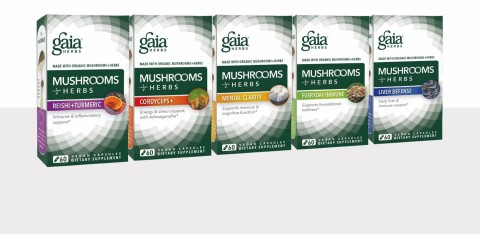 Gaia Herbs Debuts Mushroom+Herbs Line of Potent, Targeted Formulas at Expo West 2017 (Photo: Business Wire)