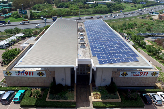 Solar installation at Netcare 911 facility in Midrand, Johannesburg, Gauteng (Photo: Business Wire)