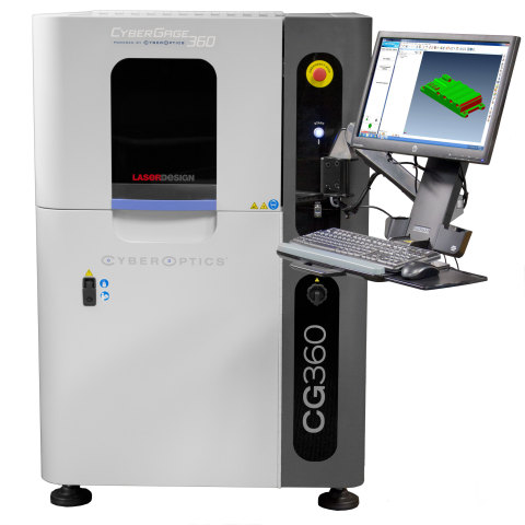With just one button, a highly precise 360-degree 3D scan of complex parts along with a full 3D inspection report can be generated in less than three minutes with the CyberGage360 from CyberOptics. Little training is required for set-up, programming and operation, so anyone can check critical features and any deviation from CAD. (Photo: Business Wire)