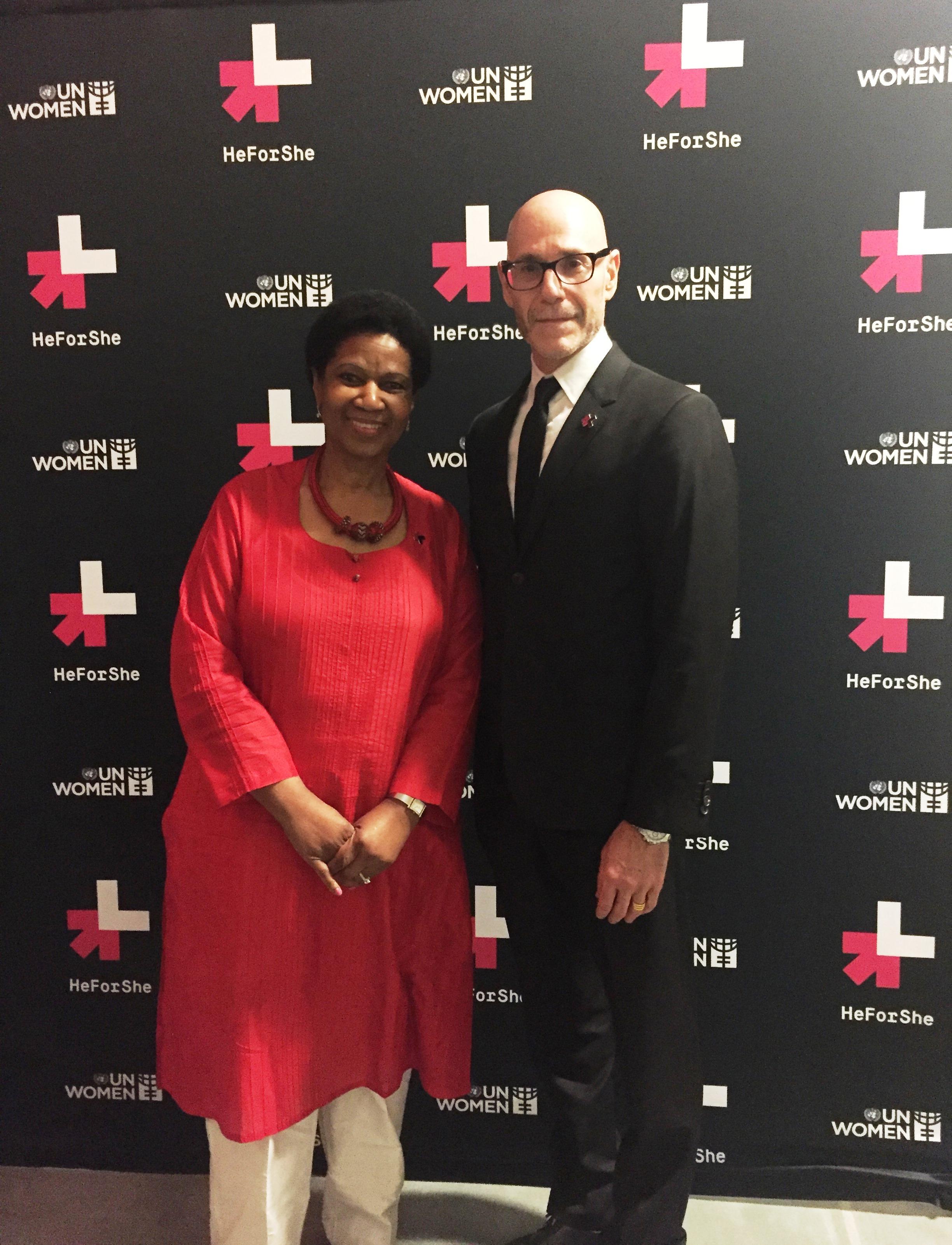 Steve Shiffman, CEO of Calvin Klein, Inc. Signs Women's Empowerment Principles Charter of UN Women (Photo: Business Wire)