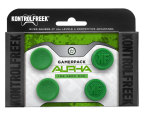 GamerPack Alpha provides an advantage in any game at any range. It includes two sets of best-selling Performance Thumbsticks in KontrolFreek's iconic green color: low-rise KontrolFreek Alpha and mid-rise CQC Signature thumbsticks. Both require minimum adjustment time and have been battle tested by top professionals. GamerPack Alpha is available for PlayStation 4 and Xbox One at KontrolFreek.com for $24.99 USD. (Photo: Business Wire)