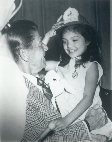 Pictured: President Ronald Reagan (The Hartford's Junior Fire Marshal Program) (Photo: Business Wire)