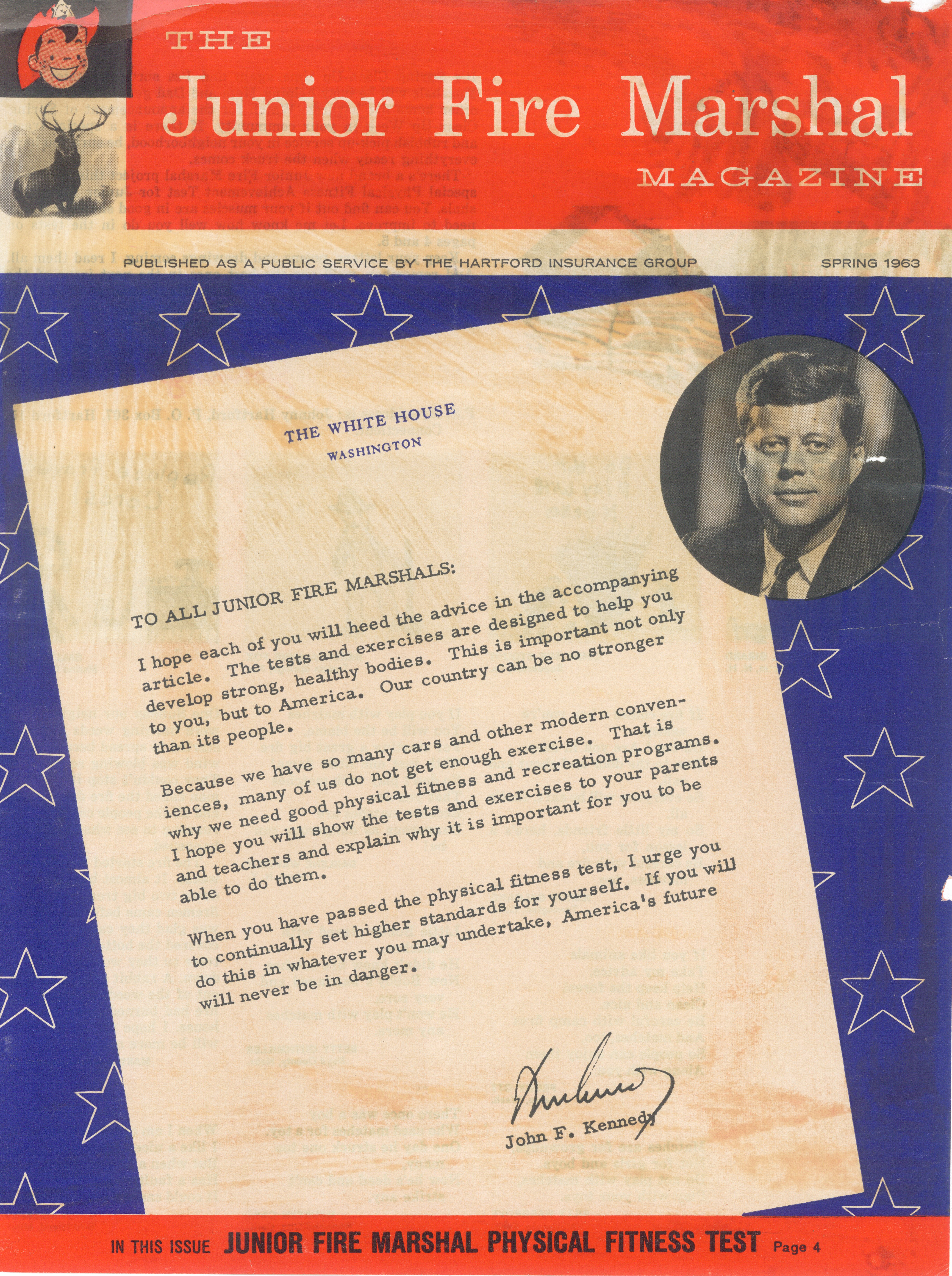 Letter from President John F. Kennedy (The Hartford's Junior Fire Marshal Program) (Graphic: Business Wire)