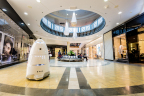 Knightscope's K5 patrolling popular shopping center. (Photo: Business Wire)