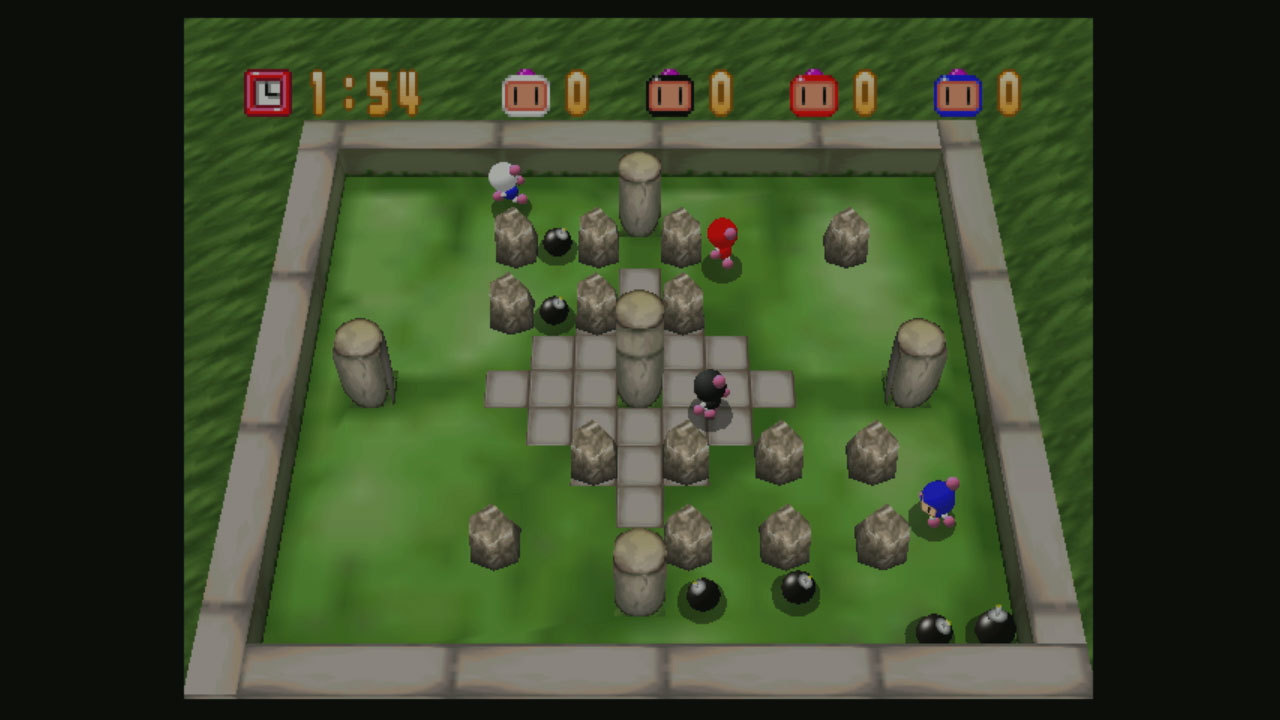 In the Adventure mode of this Nintendo 64 action game, guide Bomberman through 24 areas of perilous conflict. (Photo: Business Wire)