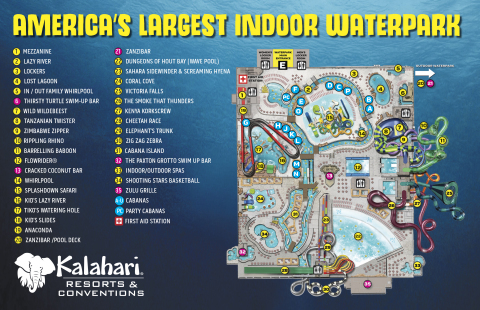 Kalahari Resorts and Conventions in the Pocono Mountains is now open and is America's Largest Indoor Waterpark - a true 220,000-sq. ft. of fun! (Graphic: Business Wire)