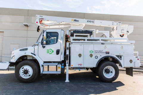 EDI Completes Vehicle Integration for the industry's-first Freightliner M2 Utility truck, featuring zero-emissions driving, jobsite idle elimination, and 120 kW of exportable AC power. (Photo: Business Wire)