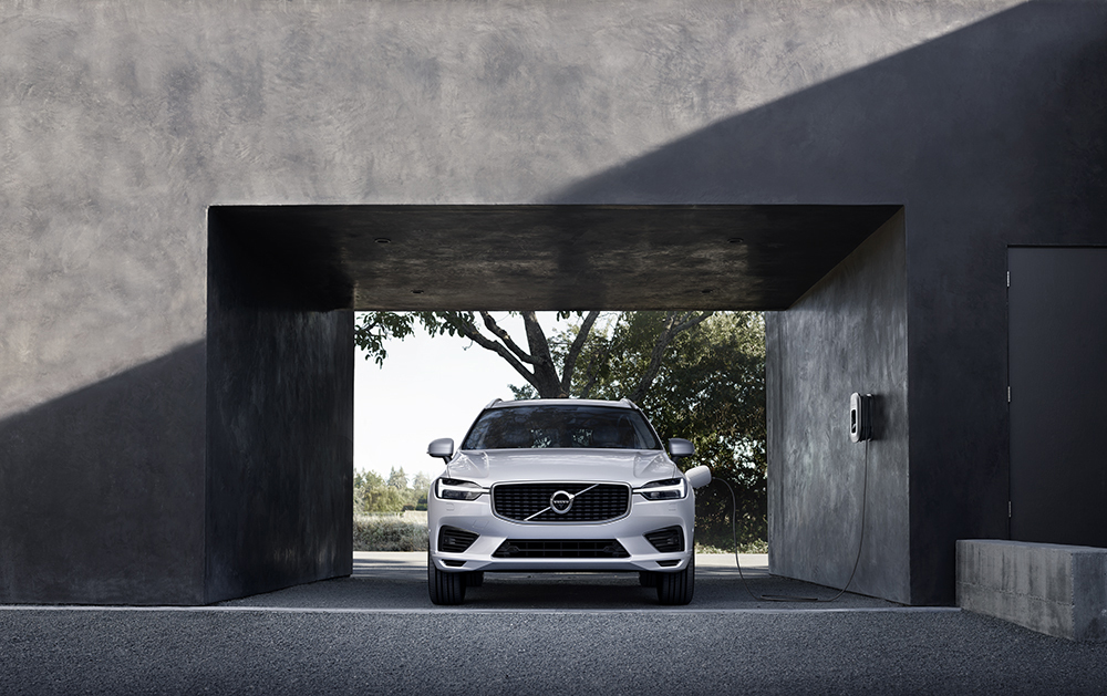 Volvo's global premium EV charger, developed by AeroVironment (Photo: Business Wire)