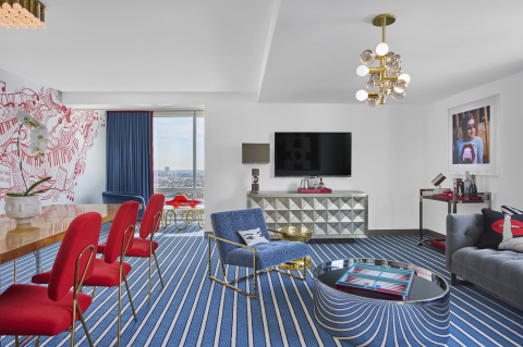 The (ANDAZ)RED Suite at Andaz West Hollywood designed and outfitted by Jonathan Adler. (Photo: Business Wire)