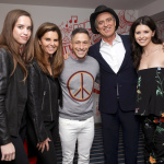 Christina Schwarzenegger, journalist Maria Shriver, designer Jonathan Adler, co-founder of (RED) and DATA Bobby Shriver and author Katherine Schwarzenegger attend the (ANDAZ)RED Suite opening party at Andaz West Hollywood. (Photo: Business Wire)