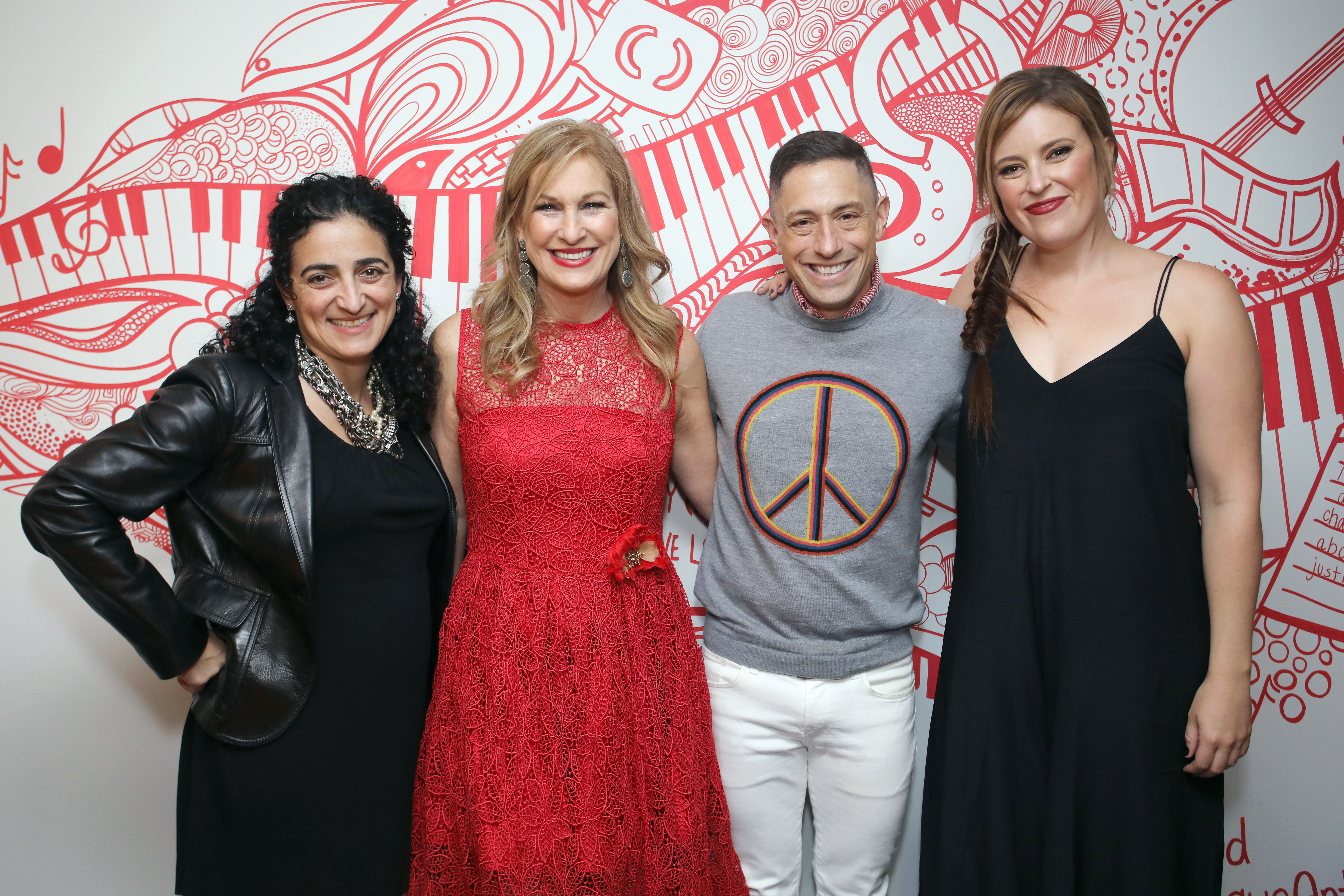 Global CMO for Hyatt Maryam Banikarim, CEO of (RED) Deb Dugan, designer Jonathan Adler and artist Kelsey Montague attend the (ANDAZ)RED Suite opening party at Andaz West Hollywood. (Photo: Business Wire)