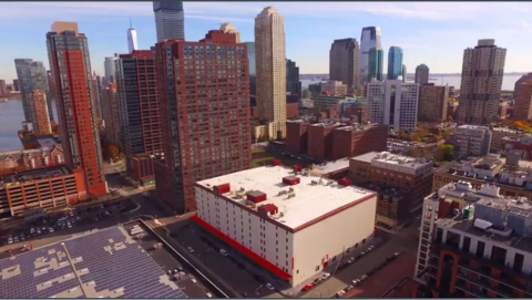 The newest Public Storage at 133 2nd Street, Jersey City, NJ, will house more storage units than any other Public Storage property to date in hopes of assisting the growing number of residents and commuters in small spaces. (Photo: Business Wire)