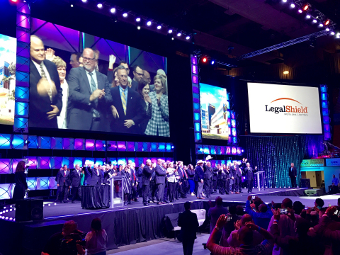 Law firm leaders from across North America gathered at LegalShield's annual LevelUp convention in Oklahoma City. (Photo: Business Wire)