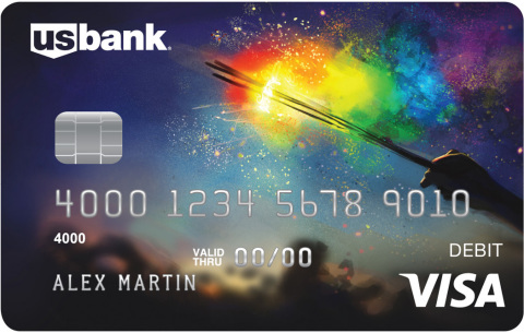 Olivia Ogba of Atlanta won U.S. Bank's first LGBT-themed debit card design contest with her patrioti ...