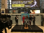 Illinois Lieutenant Governor Evelyn Sanguinetti helps launch an Anti-Human Trafficking digital billboard campaign in Chicago with Polaris and Clear Channel Outdoor. (Photo: Business Wire)