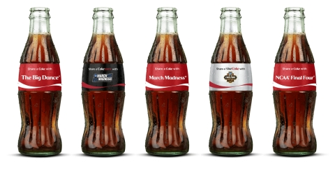 For NCAA® March Madness®, Coca-Cola is offering commemorative 8-oz. glass bottles of Coca-Cola®, Coca-Cola Zero™ and Diet Coke® emblazoned with team logos, nicknames and battle cries for more than 50 colleges and universities, including many of the most beloved programs in college basketball. Limited-edition March Madness®, The Big Dance®, Sweet Sixteen®, Elite Eight® and Final Four® bottles are also available. Buy on ShareaCoke.com/teams now through April 14. (Photo: Business Wire)