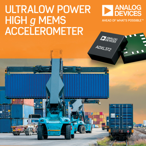 Analog Devices' Ultralow Power Accelerometer Enables Remote IoT Edge Nodes to Monitor Asset Health (Photo: Business Wire)