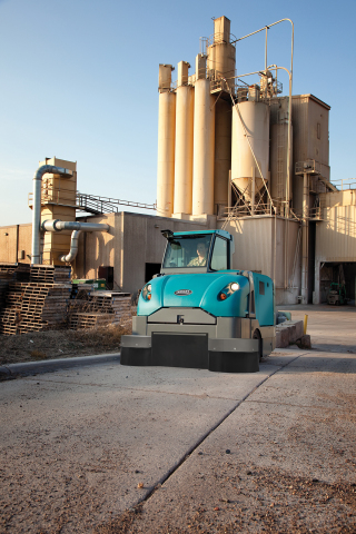 Tennant's S30 Rider Sweeper with HEPA filtration helps clean in heavy-dust environments. (Photo: Bus ...