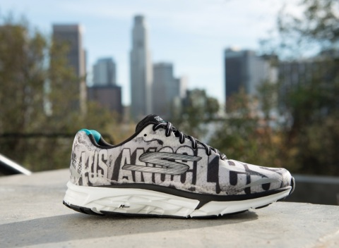 The limited edition, Skechers GOrun Forza 2. Part of the 2017 Skechers Performance Los Angeles Marathon Official Race Merchandise. (Photo: Business Wire)