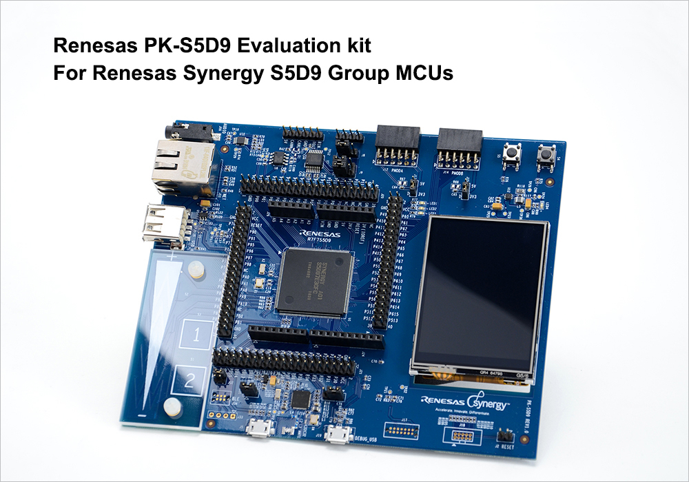 Renesas PK-S5D9 Evaluation Kit for Renesas Synergy S5D9 Group MCUs (Photo: Business Wire)