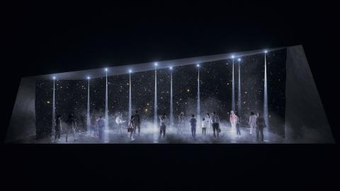 松下在2017年米蘭國際傢俱展期間展出的裝置藝術效果圖(照片:美國商業資訊)