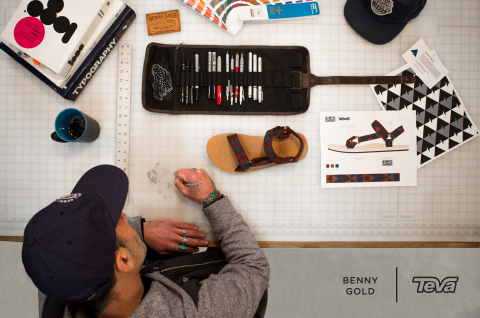 Teva announces Artist Series collaboration with celebrated streetwear designer Benny Gold. (Photo: B ...