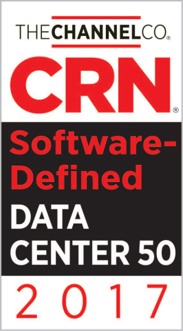 CRN named VeloCloud to its 2017 Software-Defined Data Center 50 list. VeloCloud's unique private, public and hybrid data center deployment and integration models are lowering the barrier for channel partners to deploy, support and profit from Cloud-Delivered SD-WAN. (Graphic: Business Wire)