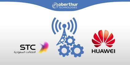 欧贝特科技、沙特电信公司和华为三方合作(照片:美国商业资讯)