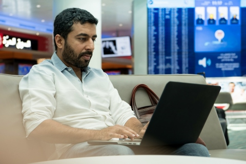 Dubai Airports unleashes WOW-Fi - the world's fastest free wi-fi connection at an airport - which provides internet connection up to a staggering 100mbps surpassing all other airports. (Photo: ME NewsWire)