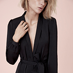 Joyce Azria's new lifestyle brand, AVEC LES FILLES, mixes a chic French aesthetic with California ease; AVEC LES FILLES Robe Wrap Dress, $98, now available at select Macy's stores and on macys.com. (Photo: Business Wire)