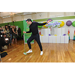 """Dancing with the Stars"" sensation Maksim Chmerkovskiy takes to the dance floor to celebrate Swiffer's 18th birthday, demonstrating how #adulting and cleaning is easy with Swiffer, Thursday, March 16, 2017, in New York. (Photo by Diane Bondareff/Invision for Swiffer/AP Images)"